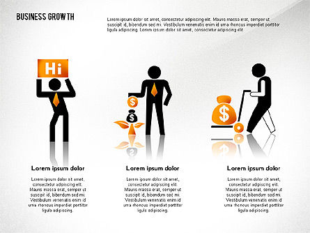 Business Growth with Stickman, Slide 3, 02572, Business Models — PoweredTemplate.com