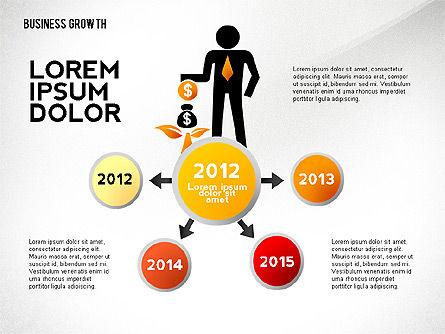 Business Growth with Stickman, Slide 4, 02572, Business Models — PoweredTemplate.com