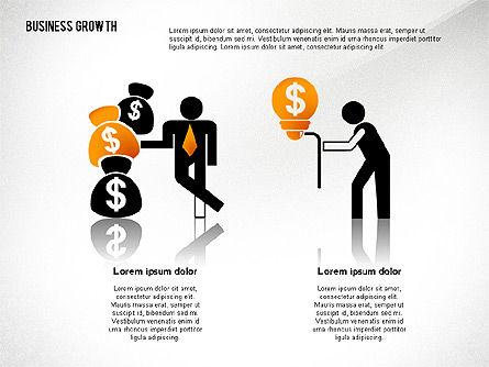 Business Growth with Stickman, Slide 5, 02572, Business Models — PoweredTemplate.com