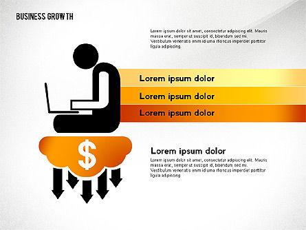 Business Growth with Stickman, Slide 7, 02572, Business Models — PoweredTemplate.com