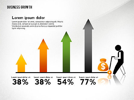 Business Growth with Stickman, Slide 8, 02572, Business Models — PoweredTemplate.com