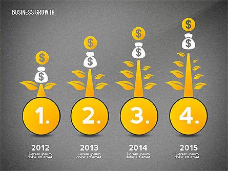 Business Growth with Stickman, Slide 9, 02572, Business Models — PoweredTemplate.com