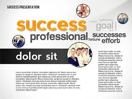 Success Word Cloud Presentation Template, Slide 2, 02574, Presentation Templates — PoweredTemplate.com