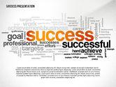 Presentation Templates: Success Word Cloud Presentation Template #02574