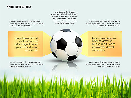 Soccer Staged Options, 02581, Infographics — PoweredTemplate.com