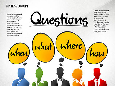 Questions Presentation Concept, 02585, Presentation Templates — PoweredTemplate.com
