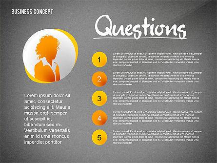 Questions Presentation Concept, Slide 10, 02585, Presentation Templates — PoweredTemplate.com