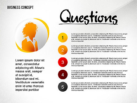 Questions Presentation Concept, Slide 2, 02585, Presentation Templates — PoweredTemplate.com