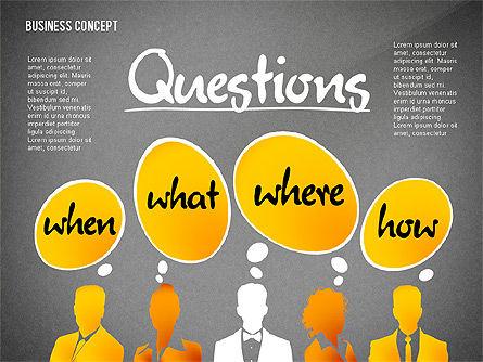 Questions Presentation Concept, Slide 9, 02585, Presentation Templates — PoweredTemplate.com
