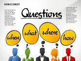 Presentation Templates: Questions Presentation Concept #02585