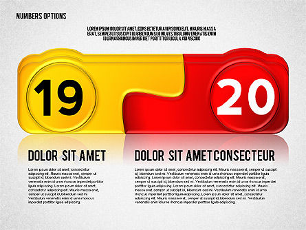 Colored Options with Numbers, Slide 10, 02588, Stage Diagrams — PoweredTemplate.com