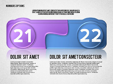 Colored Options with Numbers, Slide 11, 02588, Stage Diagrams — PoweredTemplate.com