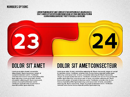 Colored Options with Numbers, Slide 12, 02588, Stage Diagrams — PoweredTemplate.com