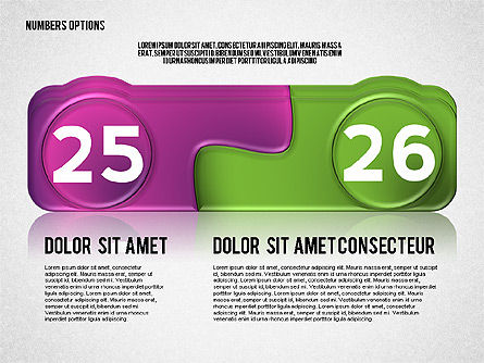 Colored Options with Numbers, Slide 13, 02588, Stage Diagrams — PoweredTemplate.com