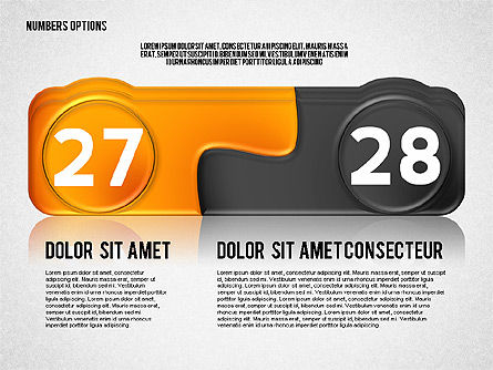 Colored Options with Numbers, Slide 14, 02588, Stage Diagrams — PoweredTemplate.com