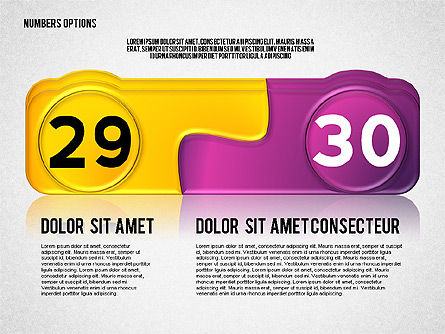 Colored Options with Numbers, Slide 15, 02588, Stage Diagrams — PoweredTemplate.com