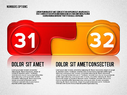Colored Options with Numbers, Slide 16, 02588, Stage Diagrams — PoweredTemplate.com