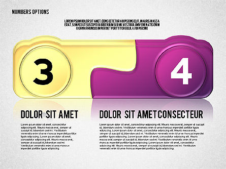 Colored Options with Numbers Slide 2