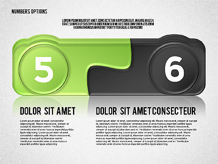 Colored Options with Numbers Slide 3
