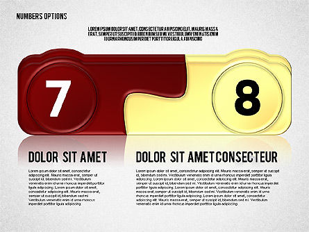 Colored Options with Numbers Slide 4
