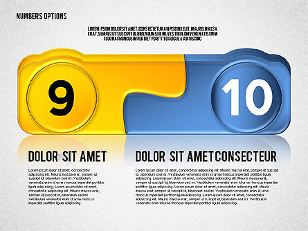 Colored Options with Numbers, Slide 5, 02588, Stage Diagrams — PoweredTemplate.com