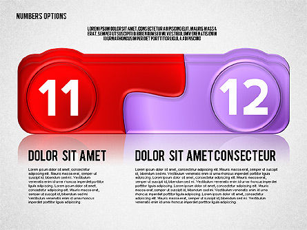 Colored Options with Numbers, Slide 6, 02588, Stage Diagrams — PoweredTemplate.com