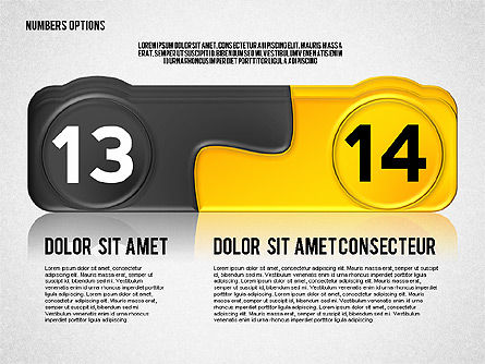 Colored Options with Numbers, Slide 7, 02588, Stage Diagrams — PoweredTemplate.com