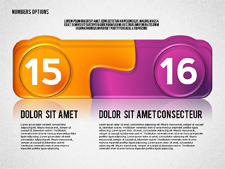 Colored Options with Numbers, Slide 8, 02588, Stage Diagrams — PoweredTemplate.com