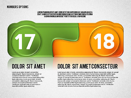 Colored Options with Numbers, Slide 9, 02588, Stage Diagrams — PoweredTemplate.com