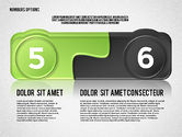 Colored Options with Numbers#3