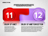 Colored Options with Numbers#6