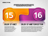 Colored Options with Numbers#8