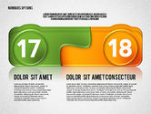 Colored Options with Numbers#9