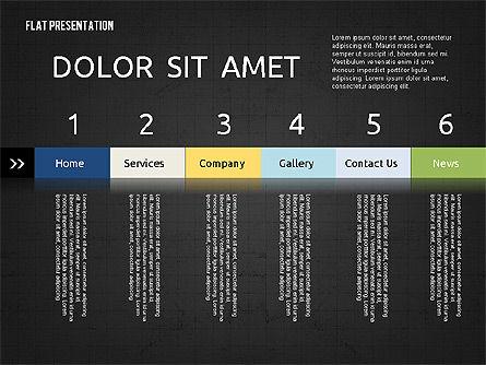 Flat Presentation Toolbox, Slide 10, 02589, Icons — PoweredTemplate.com