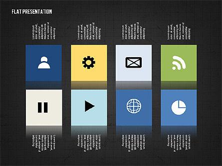 Flat Presentation Toolbox, Slide 13, 02589, Icons — PoweredTemplate.com