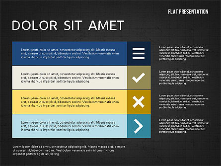 Flat Presentation Toolbox, Slide 15, 02589, Icons — PoweredTemplate.com