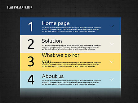 Flat Presentation Toolbox, Slide 9, 02589, Icons — PoweredTemplate.com