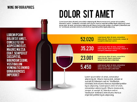 Wine Infographics, 02590, Infographics — PoweredTemplate.com