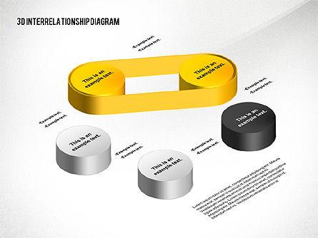 3D Interrelationship Diagram, Slide 2, 02591, Business Models — PoweredTemplate.com