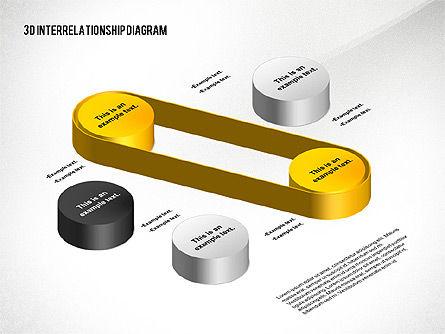 3D Interrelationship Diagram, Slide 3, 02591, Business Models — PoweredTemplate.com