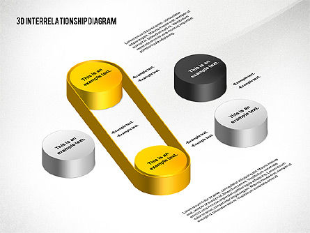 3d Interrelationship Diagram For Powerpoint Presentations Download