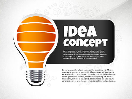 From Idea to Success Concept, 02592, Presentation Templates — PoweredTemplate.com