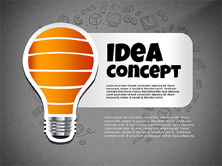 From Idea to Success Concept, Slide 9, 02592, Presentation Templates — PoweredTemplate.com