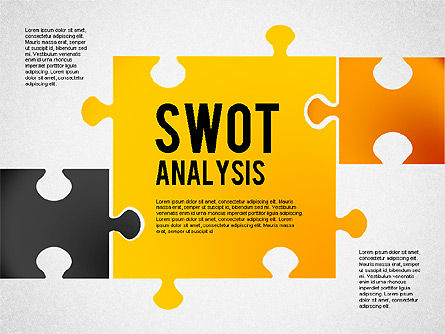 SWOT Analysis with Puzzle Pieces , 02593, Business Models — PoweredTemplate.com