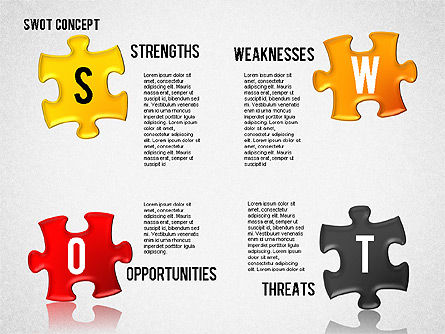 SWOT Analysis with Puzzle Pieces , Slide 2, 02593, Business Models — PoweredTemplate.com