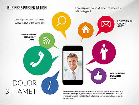 Company Presentation in Flat Design Style, Slide 2, 02594, Presentation Templates — PoweredTemplate.com
