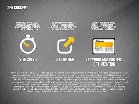 SEO Concept Presentation Template, Slide 10, 02595, Presentation Templates — PoweredTemplate.com