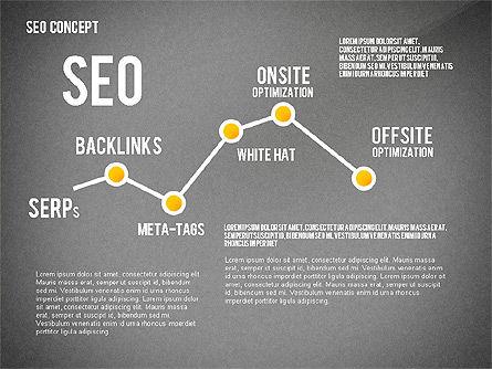 SEO Concept Presentation Template, Slide 13, 02595, Presentation Templates — PoweredTemplate.com