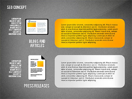 SEO Concept Presentation Template, Slide 16, 02595, Presentation Templates — PoweredTemplate.com