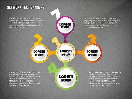 Network Text Banners, Slide 12, 02596, Text Boxes — PoweredTemplate.com